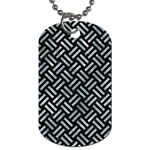WOVEN2 BLACK MARBLE & ICE CRYSTALS (R) Dog Tag (Two Sides)