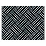 WOVEN2 BLACK MARBLE & ICE CRYSTALS (R) Rectangular Jigsaw Puzzl