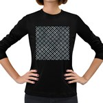 WOVEN2 BLACK MARBLE & ICE CRYSTALS (R) Women s Long Sleeve Dark T-Shirts
