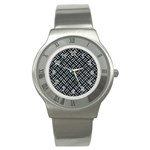 WOVEN2 BLACK MARBLE & ICE CRYSTALS (R) Stainless Steel Watch