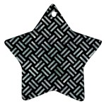 WOVEN2 BLACK MARBLE & ICE CRYSTALS (R) Star Ornament (Two Sides)