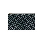 WOVEN2 BLACK MARBLE & ICE CRYSTALS (R) Cosmetic Bag (Small)