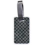 WOVEN2 BLACK MARBLE & ICE CRYSTALS (R) Luggage Tags (One Side)