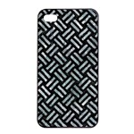 WOVEN2 BLACK MARBLE & ICE CRYSTALS (R) Apple iPhone 4/4s Seamless Case (Black)