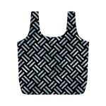 WOVEN2 BLACK MARBLE & ICE CRYSTALS (R) Full Print Recycle Bags (M)