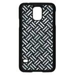 WOVEN2 BLACK MARBLE & ICE CRYSTALS (R) Samsung Galaxy S5 Case (Black)