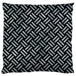 WOVEN2 BLACK MARBLE & ICE CRYSTALS (R) Large Flano Cushion Case (Two Sides)