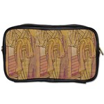 Japanese Geisha with Cat illustration Toiletries Bags