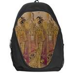 Japanese Geisha with Cat illustration Backpack Bag