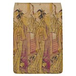 Japanese Geisha with Cat illustration Flap Covers (L)