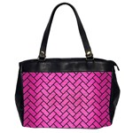BRICK2 BLACK MARBLE & PINK BRUSHED METAL Office Handbags (2 Sides)