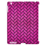 BRICK2 BLACK MARBLE & PINK BRUSHED METAL Apple iPad 3/4 Hardshell Case (Compatible with Smart Cover)