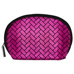 BRICK2 BLACK MARBLE & PINK BRUSHED METAL Accessory Pouches (Large)