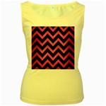 CHEVRON9 BLACK MARBLE & PINK BRUSHED METAL (R) Women s Yellow Tank Top