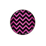 CHEVRON9 BLACK MARBLE & PINK BRUSHED METAL (R) Hat Clip Ball Marker (4 pack)