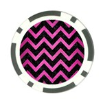CHEVRON9 BLACK MARBLE & PINK BRUSHED METAL (R) Poker Chip Card Guard (10 pack)