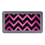 CHEVRON9 BLACK MARBLE & PINK BRUSHED METAL (R) Memory Card Reader (Mini)