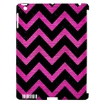 CHEVRON9 BLACK MARBLE & PINK BRUSHED METAL (R) Apple iPad 3/4 Hardshell Case (Compatible with Smart Cover)