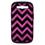 CHEVRON9 BLACK MARBLE & PINK BRUSHED METAL (R) Samsung Galaxy S III Hardshell Case (PC+Silicone)