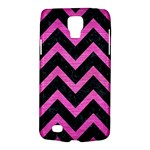CHEVRON9 BLACK MARBLE & PINK BRUSHED METAL (R) Galaxy S4 Active