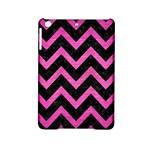 CHEVRON9 BLACK MARBLE & PINK BRUSHED METAL (R) iPad Mini 2 Hardshell Cases