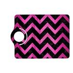 CHEVRON9 BLACK MARBLE & PINK BRUSHED METAL (R) Kindle Fire HD (2013) Flip 360 Case