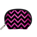 CHEVRON9 BLACK MARBLE & PINK BRUSHED METAL (R) Accessory Pouches (Small)