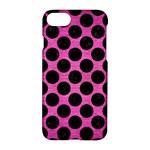 CIRCLES2 BLACK MARBLE & PINK BRUSHED METAL Apple iPhone 7 Hardshell Case