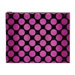 CIRCLES2 BLACK MARBLE & PINK BRUSHED METAL (R) Cosmetic Bag (XL)