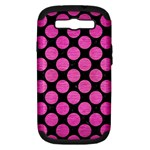 CIRCLES2 BLACK MARBLE & PINK BRUSHED METAL (R) Samsung Galaxy S III Hardshell Case (PC+Silicone)
