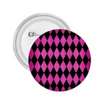 DIAMOND1 BLACK MARBLE & PINK BRUSHED METAL 2.25  Buttons