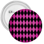 DIAMOND1 BLACK MARBLE & PINK BRUSHED METAL 3  Buttons