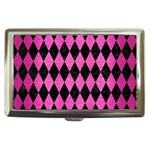 DIAMOND1 BLACK MARBLE & PINK BRUSHED METAL Cigarette Money Cases