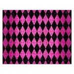 DIAMOND1 BLACK MARBLE & PINK BRUSHED METAL Rectangular Jigsaw Puzzl
