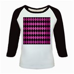 DIAMOND1 BLACK MARBLE & PINK BRUSHED METAL Kids Baseball Jerseys