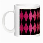 DIAMOND1 BLACK MARBLE & PINK BRUSHED METAL Night Luminous Mugs