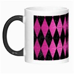 DIAMOND1 BLACK MARBLE & PINK BRUSHED METAL Morph Mugs