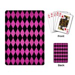 DIAMOND1 BLACK MARBLE & PINK BRUSHED METAL Playing Card