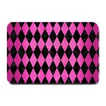 DIAMOND1 BLACK MARBLE & PINK BRUSHED METAL Plate Mats