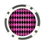 DIAMOND1 BLACK MARBLE & PINK BRUSHED METAL Poker Chip Card Guard