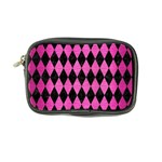 DIAMOND1 BLACK MARBLE & PINK BRUSHED METAL Coin Purse