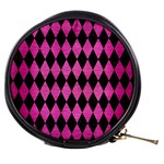 DIAMOND1 BLACK MARBLE & PINK BRUSHED METAL Mini Makeup Bags