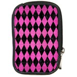 DIAMOND1 BLACK MARBLE & PINK BRUSHED METAL Compact Camera Cases