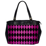 DIAMOND1 BLACK MARBLE & PINK BRUSHED METAL Office Handbags