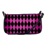 DIAMOND1 BLACK MARBLE & PINK BRUSHED METAL Shoulder Clutch Bags