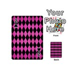 DIAMOND1 BLACK MARBLE & PINK BRUSHED METAL Playing Cards 54 (Mini)