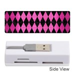 DIAMOND1 BLACK MARBLE & PINK BRUSHED METAL Memory Card Reader (Stick)