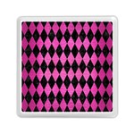 DIAMOND1 BLACK MARBLE & PINK BRUSHED METAL Memory Card Reader (Square)