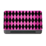 DIAMOND1 BLACK MARBLE & PINK BRUSHED METAL Memory Card Reader with CF