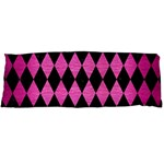 DIAMOND1 BLACK MARBLE & PINK BRUSHED METAL Body Pillow Case (Dakimakura)